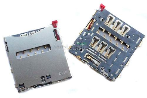 Коннектор sim Sony C6902 L39h Xperia Z1,C6903,C6906,C6943
