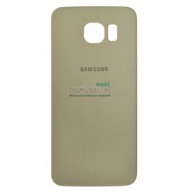 Задняя крышка Samsung G920F Galaxy S6 gold orig
