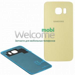 Задняя крышка Samsung G925F Galaxy S6 EDGE gold orig
