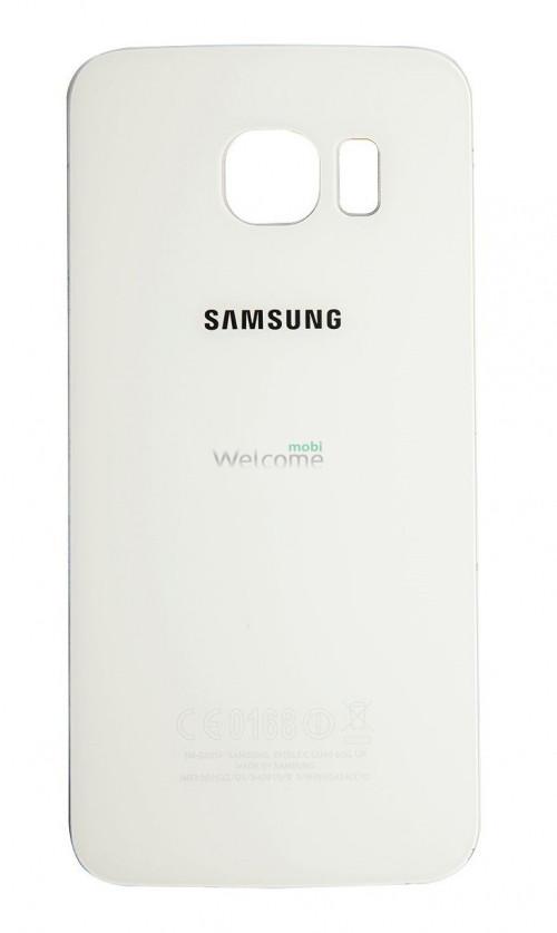 Задняя крышка Samsung G925F Galaxy S6 EDGE white orig