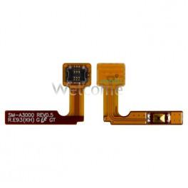 Шлейф Samsung A300F Galaxy A3,A300F с кнопкой включения и компонентами