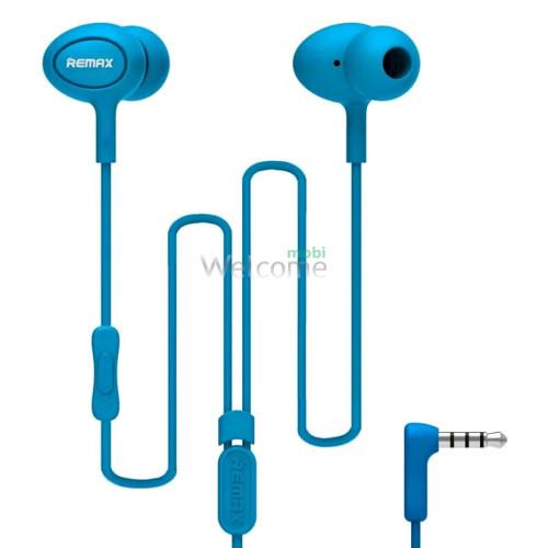 Наушники вакуумные Remax 515 гарнитура blue