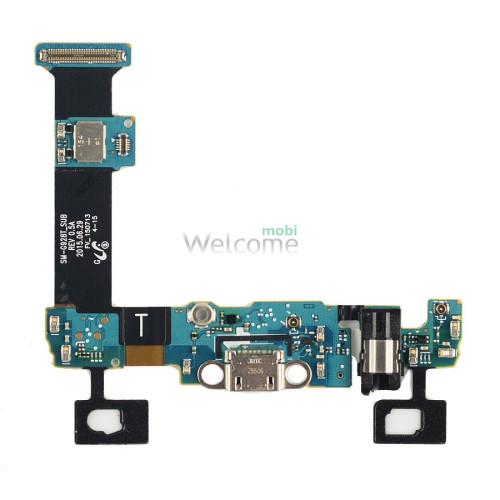 Шлейф Samsung G928 Galaxy S6 EDGE+ зарядка+наушники+Home+сенсорные кнопки+микрофон