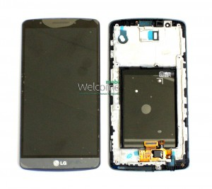 Дисплей LG D855,D858,D859 Optimus G3 with touchscreen with frame grey orig