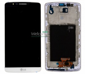 Дисплей LG D855,D858,D859 Optimus G3 with touchscreen with frame white orig