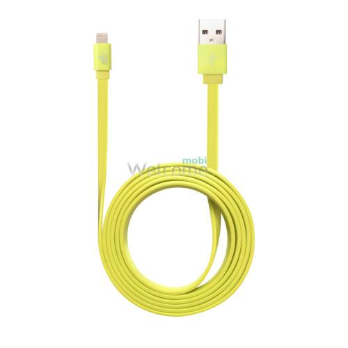 USB кабель iPhone 5,6,6 Plus,6S,7,7 Plus желтый 1м orig (в упаковке)