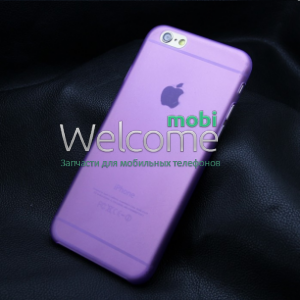 Чехол Remax Pudding Case iPhone6+ силикон прозрачный фиолетовый 0,2mm