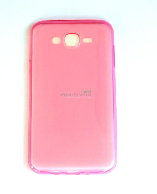 Чехол Remax Ultrathin Samsung J700 силикон прозрачный pink 0.2mm