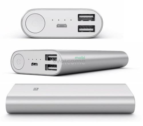 Внешний аккумулятор (power bank) MI 9800mAh 2USB(1A+2A)+ 4smd фонарь