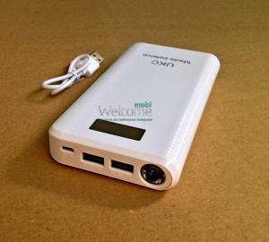Внешний аккумулятор (power bank) UKC 30800mAh led дисплей 2USB(1A+2A)+LED фонарик