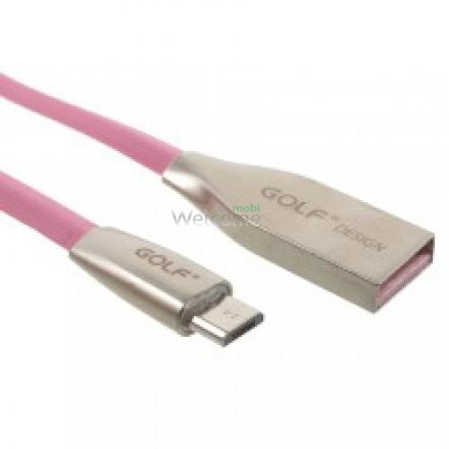 USB кабель micro Grand GC-29M Pink 1м