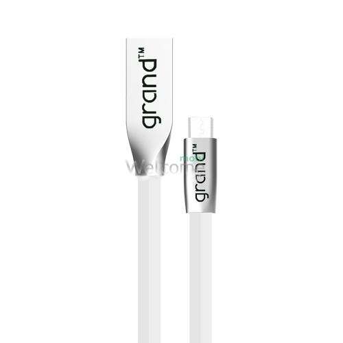 USB кабель micro Grand GC-29M White 1м