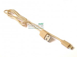 USB кабель micro Grand Braided Gold 1м