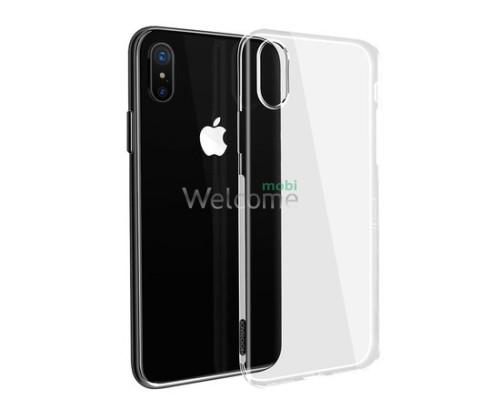 Чехол Remax Ultrathin iPhone X силикон прозрачный white 0.2mm