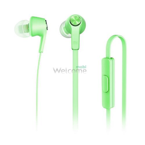 Наушники вакуумные метал Xiaomi MI5 green+mic (гарнитура)