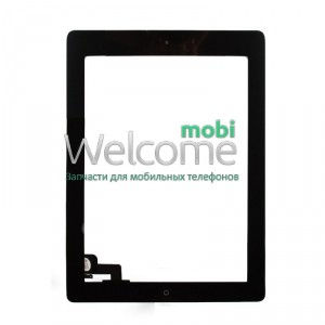 iPad2 touchscreen+home button+flex black orig