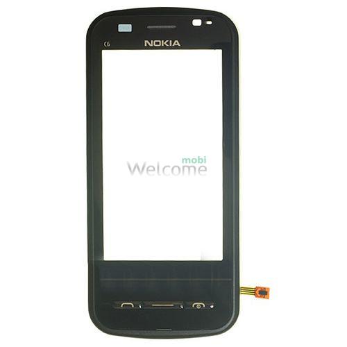 Сенсор Nokia C6-00 black with frame orig
