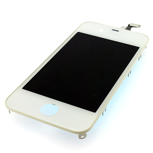 iPhone4G LCD with touch and frame white orig (TEST)
