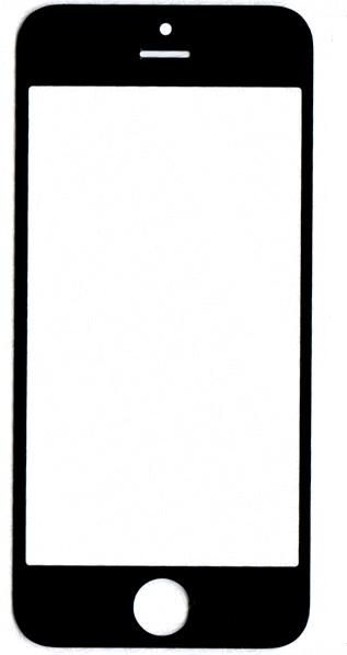 Iphone5,iPhone5c,iPhone5s,iPhone SE glass black high copy