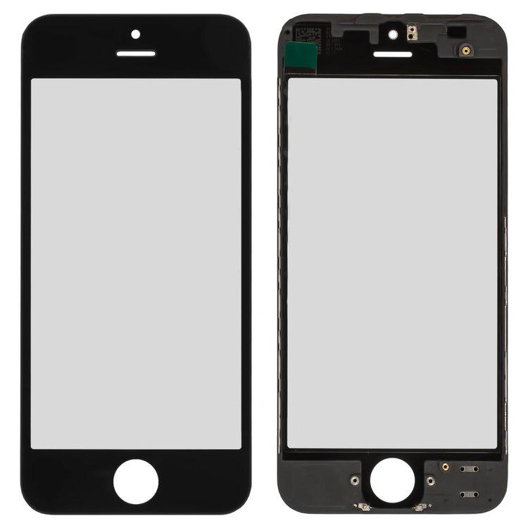 iPhone5 glass + OCA Film with frame black