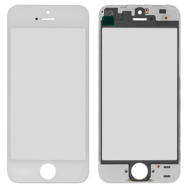 iPhone5 glass + OCA Film with frame white