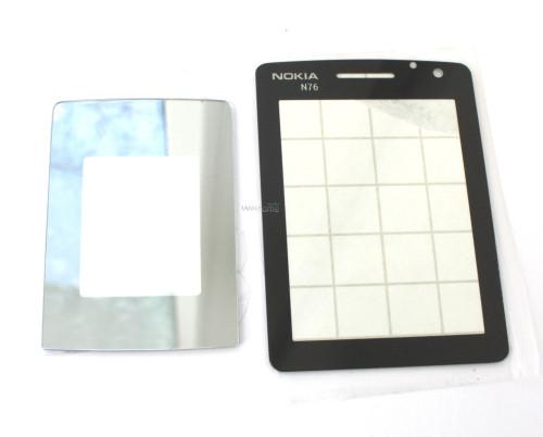 Скло корпусу Nokia N76 black 2шт