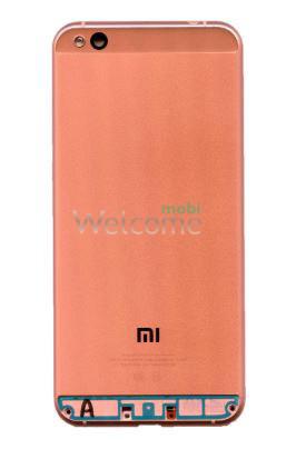 Задня кришка Xiaomi Mi5c pink (зі склом камери)