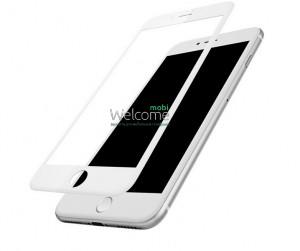 Скло iPhone 6/6S 4.7 (0.3 мм, 4D, біле) Люкс