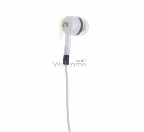 Навушники вакуумні Xiaomi MI ORIGINAL white+mic(гарнітура)