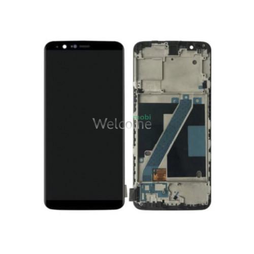 Дисплей OnePlus 5T A5010 в зборі з сенсором black TFT