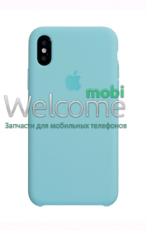 Чохол силікон Original iPhone X Marine Green