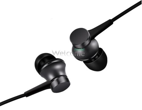 Навушники вакуумні метал Xiaomi MI8 black+mic (гарнітура)