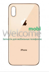 iPhoneXS Max back cover gold