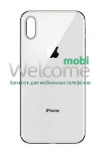 iPhoneXS Max back cover (glass) white