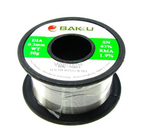 Припій BAKU BK-5003 (0,3 мм, 50 гр, Sn 63% , Pb 35.1%, rma 1.9%)