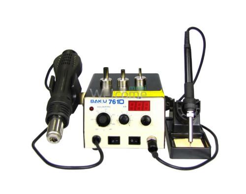 Паяльна станція BAKU BK761D, фен з цифровою індикацією, паяльник з аналоговим регулюванням t