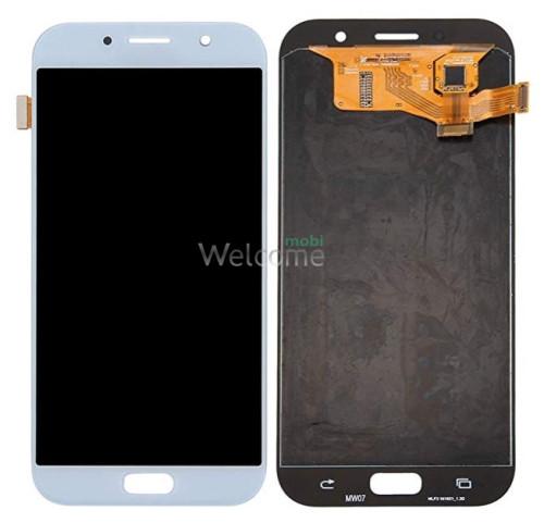 Дисплей Samsung SM-A720H Galaxy A7 (2017) в зборі з сенсором blue TFT з рег. підсвіткою