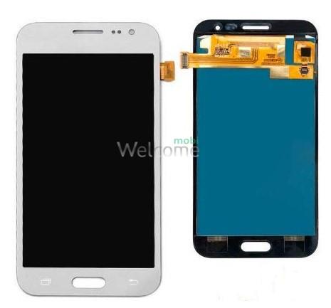 Дисплей Samsung SM-J200H Galaxy J2 white в зборі з сенсором TFT з рег. підсвіткою
