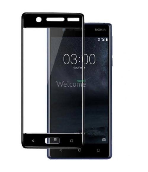 Скло Nokia 5 Full Glue (0.3 мм, 2.5D, з олеофобним покриттям) black