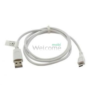 USB кабель CA-101 micro 1A 1m Nokia 5800/5130/6303/6500/6700/8800/E52 white