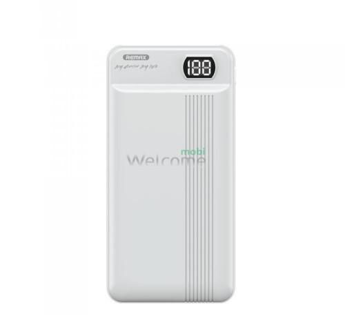 Зовнішній акумулятор (power bank) Remax Fizi RPP-106 20000 mAh white