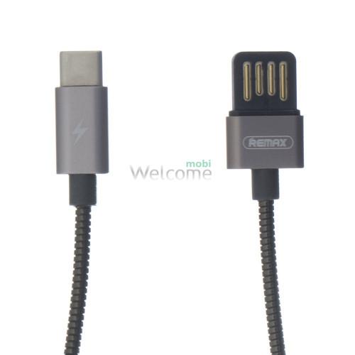 USB кабель Type-C Remax Silver Serpent RC-080a, 1m tarnish