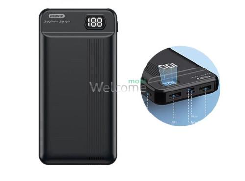 Зовнішній акумулятор (power bank) Remax Fizi RPP-106 20000 mAh black