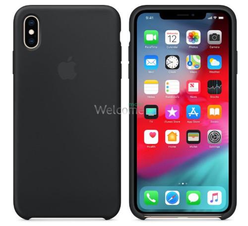 Чохол силікон Original iPhone XS Max Black