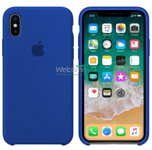 Silicone case for iPhone X/XS (40) ultra blue