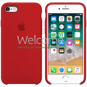 Silicone case for iPhone SE/5/5S (14) red
