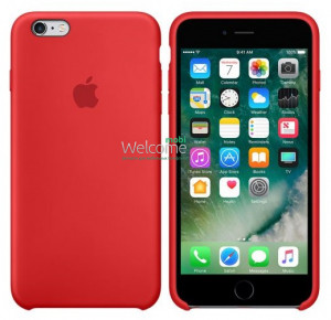 Silicone case for iPhone 6/6S (14) red