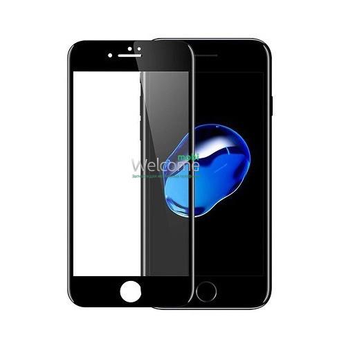 Скло iPhone 6/6S 4.7 (0.3 мм, 4D ARC, чорне) Люкс