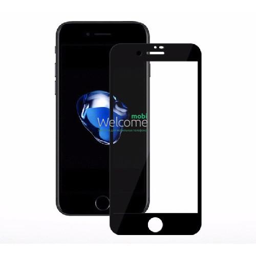 Скло iPhone 7/8/SE 2020 4.7 (0.3 мм, 4D ARC, чорне) Люкс
