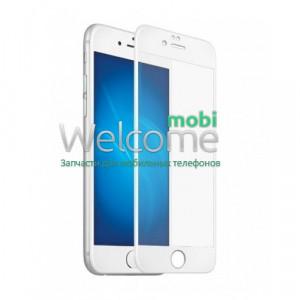 Скло iPhone 6 Plus/6S Plus 5.5 (0.3 мм, 4D ARC, біле) Люкс